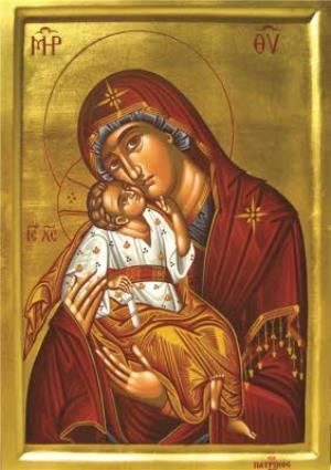 Greeting Cards - Classical Madonna Painting Personalised Religious Greetings Card - Image 1