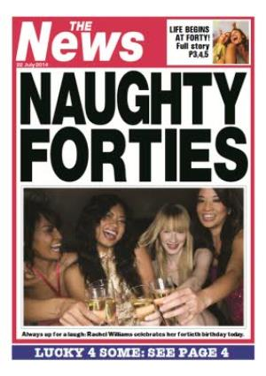 Greeting Cards - Naughty Forties Newspaper Headline Personalised Photo Upload 40th Birthday Card - Image 1