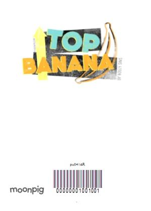 Greeting Cards - Top Banana And Stars Personalised Well Done Card - Image 4