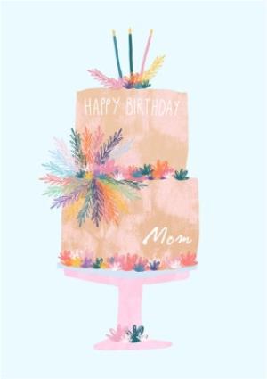 Greeting Cards - Female Birthday card - birthday cake - Mum - Image 1
