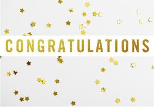 Greeting Cards - Congratulations card - Stars - Image 1