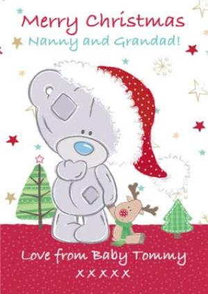 Greeting Cards - Tatty Teddy With Little Reindeer Personalised Christmas Card For Grandparents - Image 1
