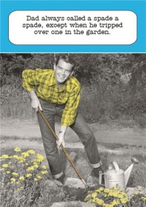 Greeting Cards - Dad Tripping In The Garden Personalised Father's Day Card - Image 1