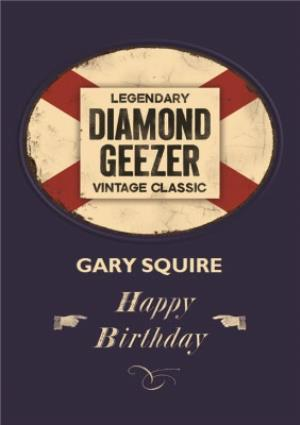 Greeting Cards - Diamond Geezer Personalised Name Card - Image 1