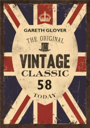 Greeting Cards - British The Original Vintage Classic Personalised Name Card - Image 1