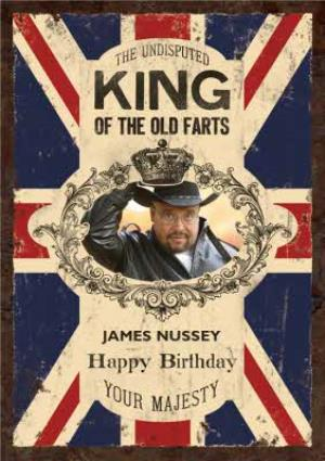 Greeting Cards - Britains King Of Farts Photo Upload Card - Image 1