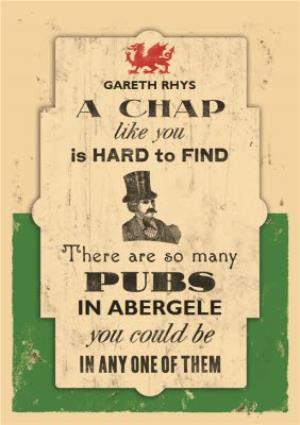 Greeting Cards - A Welsh Chap Like You Is Hard To Find Personalised Name Card - Image 1