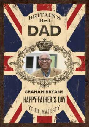 Greeting Cards - Britains Best Dad Photo Upload Card - Image 1