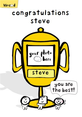 You Are The Best Trophy Personalised Congratulations Card Moonpig