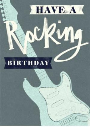 Greeting Cards - Father's Day card - guitar - rock and roll - Image 1