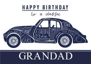 Greeting Cards - Classic Car Birthday Card - Image 1