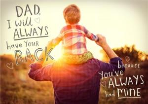 Greeting Cards - Dad, I Will Always Have Your Back Card - Image 1