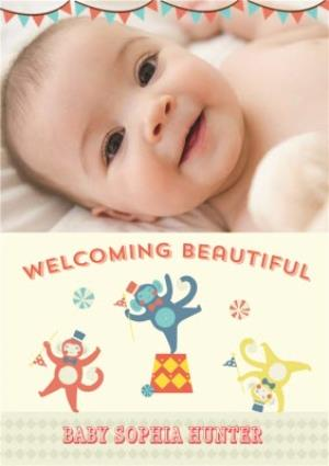 Greeting Cards - Circus Act New Baby Photo Card - Image 1