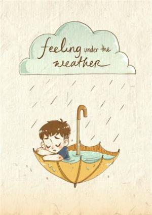 Greeting Cards - Feeling Under The Weather Card - Image 1