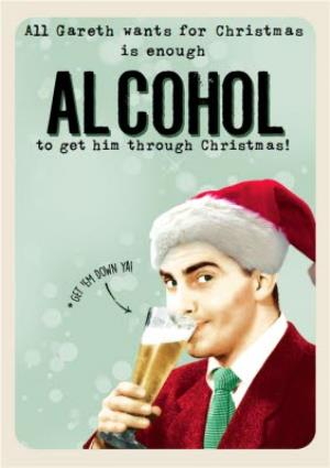 Greeting Cards - Enough Alcohol For Christmas Photo Upload Card - Image 1
