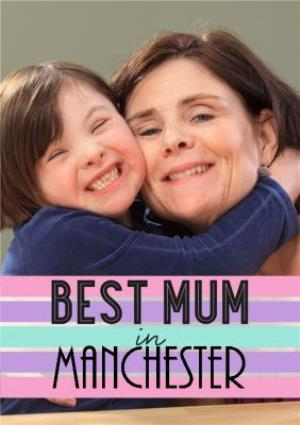 Greeting Cards - Best Mum In Personalised Placed Photo Card - Image 1