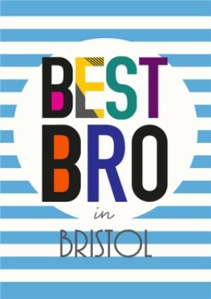 Greeting Cards - Best Bro Personalised Card - Image 1