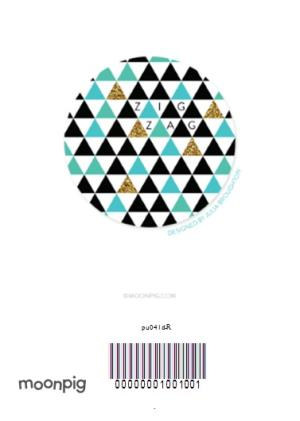 Greeting Cards - Diagonal Stripes Personalised New Home Card - Image 4