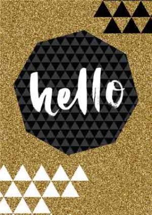 Greeting Cards - Sparkle Time Hello Greetings Card - Image 1