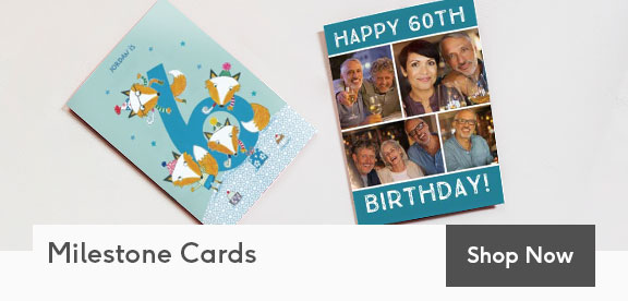 Personalized Milestone Birthday Cards